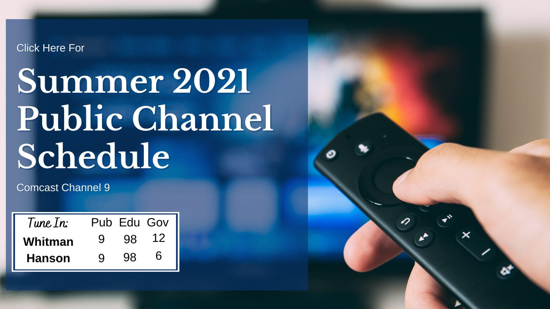 Summer 2021 Channel 9 Schedule